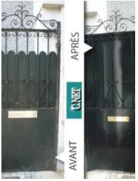 decapage porte, sablage porte, peinture epoxy porte, portail